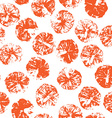 Orange stamps seamless pattern vector image