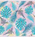 pattern with tropical monstera leaves tropilal vector image vector image