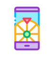 phone roulette icon outline vector image