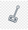plunger cleanin concept linear icon isolated on vector image