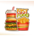 poster for fast food vector image vector image