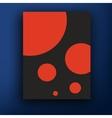 retro bauhaus de stijl brochure booklet vector image vector image