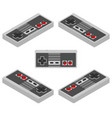 retro console gamepad in isometric view vector image vector image