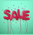 sale balloon letters background vector image vector image