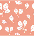 seamless pattern with leaves on pink vector image