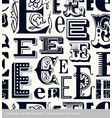 seamless vintage pattern letter E vector image vector image