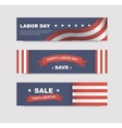 set banners with flags vector image