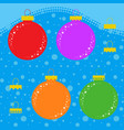 set of flat colored isolated christmas tree toys vector image vector image