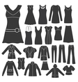 set of women s clothing vector image vector image