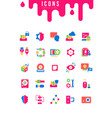 set simple icons computer science vector image vector image
