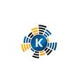 sound service production letter k vector image vector image
