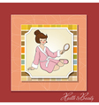 spa lady who looks into a mirror vector image