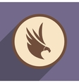 stylish silhouette eagle logo vector image vector image