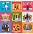 Theatre Compositions 3x3 Design Concept vector image