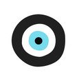 traditional greek evil eye in black and turquoise vector image vector image