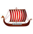 Viking ship vector image vector image