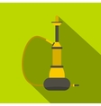 Yellow hookah icon flat style vector image vector image