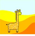 Fanny giraffe vector image