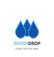 water drop logo icon design clean aqua blue vector image