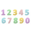 set of colorful volumetric numbers for birthday vector image