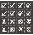 Check marks icon set vector image