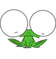 a cartoon frog with very large eyes vector image