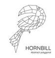 abstract polygonal geometric hornbill bird vector image