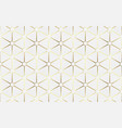 abstract white and gold luxury geometric pattern vector image vector image