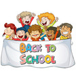back to school sign theme vector image vector image