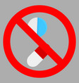 ban tablet icon flat vector image vector image