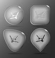 Bats Glass buttons vector image