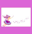 beautiful flying fairy character with purple wings vector image vector image