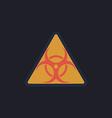 Biohazard computer symbol vector image
