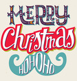 Christmas card Hand lettering Decorative pattern vector image vector image