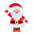 christmas santa claus icons character poses vector image