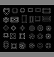collection shapes of diamond against black vector image