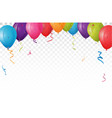 colorful birthday balloon with colorful balloon vector image vector image