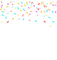 colorful bright confetti isolated on white vector image vector image
