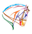 colorful decorative portrait of andalusian horse vector image vector image