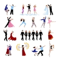 Dancing People Icons Set vector image