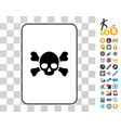 death card with bonus vector image vector image