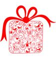 decorative gift vector image vector image