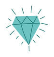 diamond luxury gem jewelry isolated design icon vector image