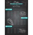 drawing vertical scetch mexican food menu vector image