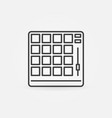 drum machine concept icon in thin line vector image