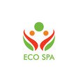 eco spa logo vector image