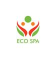 eco spa logo vector image vector image