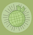 ecology world planet environmental symbol vector image vector image