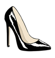 Female shoe of black color vector image