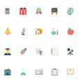 Flat Education Icons 2 vector image vector image